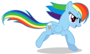 Rainbow Dash running