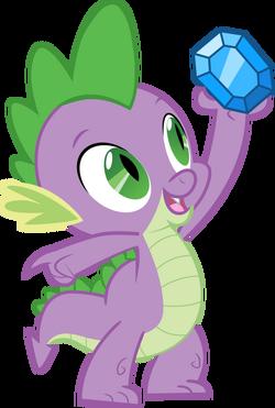 Spike holding up gem
