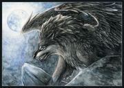 Werewolf with wings