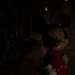 Minnie in the Meat Freezer