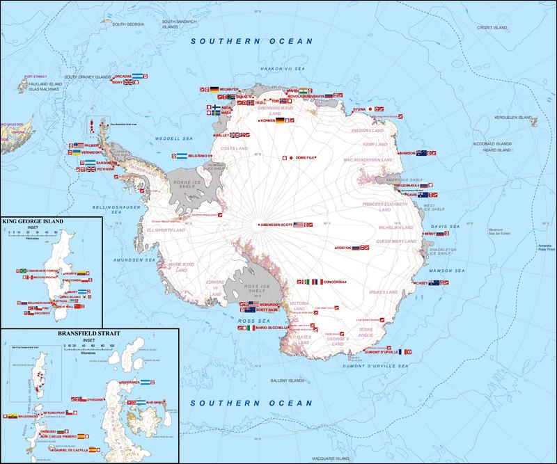 Antarctica Station Map