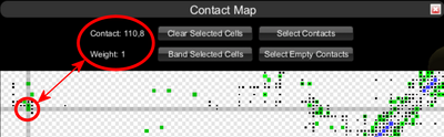 Contact Map Selected Cell