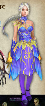 Ellen Costume Faery Cloak Blue artwork