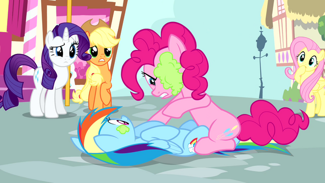 File:Pinkie pointing at Rainbow S4E12.png