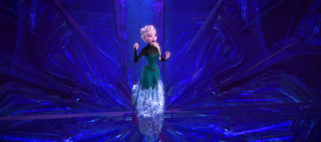 File:Elsa using her ice powers to form a dress (How did she do that?).png