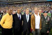 David Petraeus, Lynn Swann, Roger Craig, John Elway, Roger Goodell at Super Bowl 43