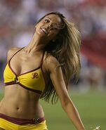 Washington Redskins cheerleader @ game vs New England Patriots 16