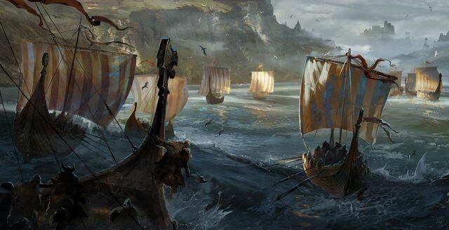 File:Vikings approaching the coast.jpg