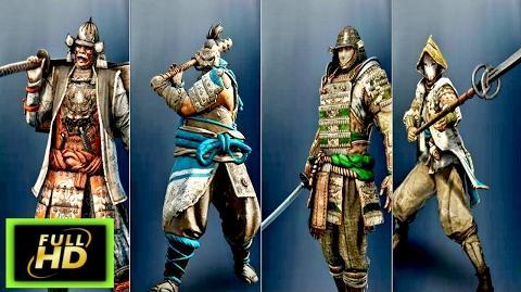 For Honor Samurai Cutscenes The Kensei - The Shugoki - The Orochi - The Nobushi
