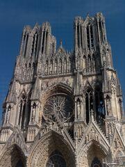 Notre Dame de Reims - detail haut
