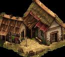 Halmtäckt hus