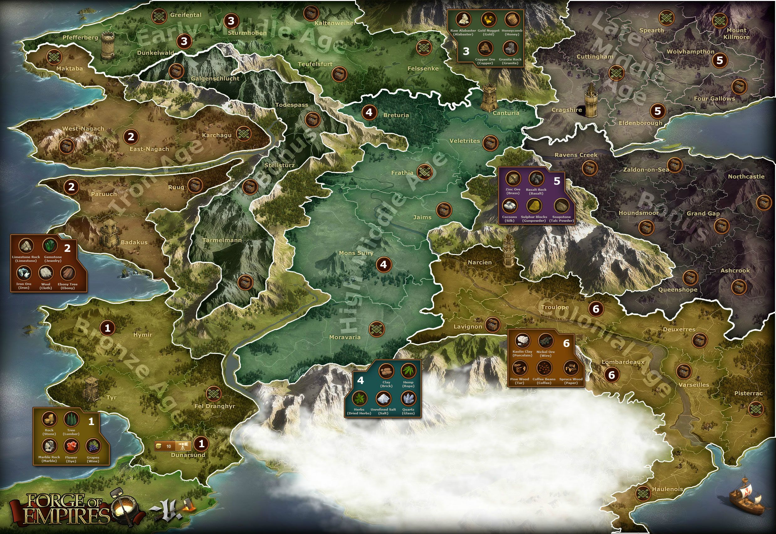Bronze to Colonial Age Map HR