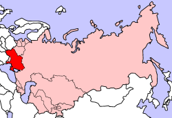 Map of the Ukrainian SSR