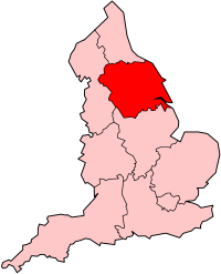Map of Yorkshire and the Humber