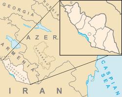 Map of Nakhchivan