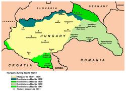 Map of Vienna Award Hungary