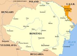 Map of Romania 1920
