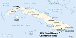 Location of the Guantanamo Bay Naval Base