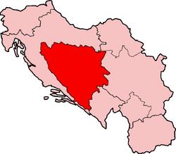 Map of SFRY Bosnia