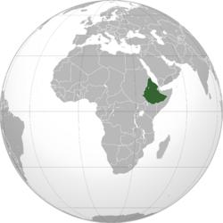 Map of the Democratic Republic of Ethiopia