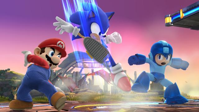 File:SSMB WiiU - Sonic Mario Megaman Screenshot.jpg