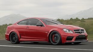 The Mercedes-Benz C 63 AMG Coupé Black Series in Forza Horizon 3
