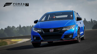 The Honda Civic Type R in Forza Motorsport 7