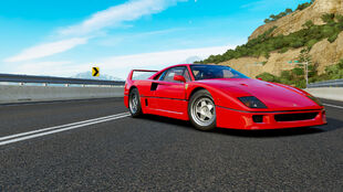 The Ferrari F40 in Forza Horizon 3