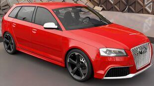 The Audi RS 3 Sportback in Forza Horizon 3