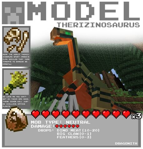 File:Minecraft therizinosaurus by dragonith-d5xfhcb.jpeg
