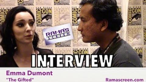My SDCC 2017 Interview with 'THE GIFTED' Star, Emma Dumont