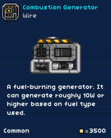 Combustion generator-0