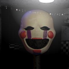 The Puppet's face in the Main Hall.