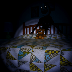 Nightarionne behind the Bed.