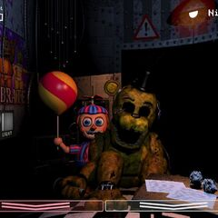 Golden Freddy and BB can be seen in The Office together on rare occasions.