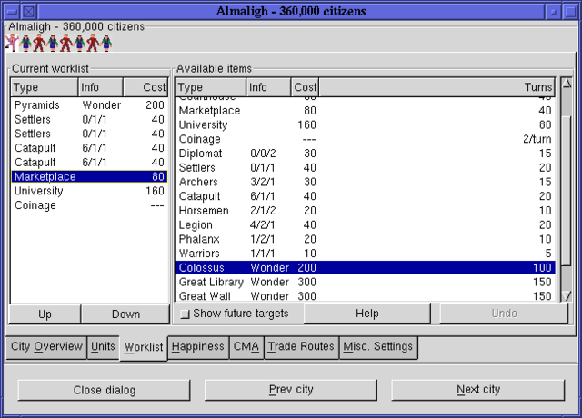 Tiedosto:Citydlg worklists freeciv113 gtk.png