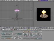 Blender demo screen particlesystem