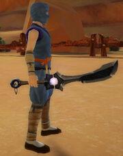 Ninja's Shadow Blade of Mysticism held