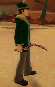 Wizard's Bone Wand of Shock held
