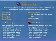 Ninja's Nature Claw item