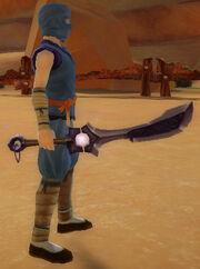 Ninja's Shadow Blade of Soul Power held
