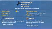 Warrior's Battle Hammer of Earthquake item
