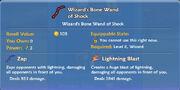Wizard's Bone Wand of Shock item