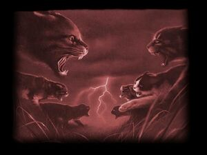 Warrior cat fight