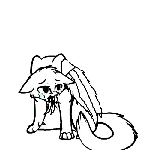 Warrior Cats Dead: Image - Sad Cat Lineart By Soulcats-d5e5m4u.png