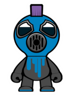 Gas mask mohawk mask