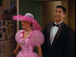 Rachel in bridesmaid dress