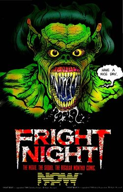 Fright Night the Comic Series ad