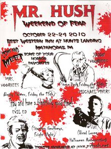 Mr Hush Weekend of Fear Poster