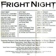 Fright Night USA Soundtrack Cassette 03